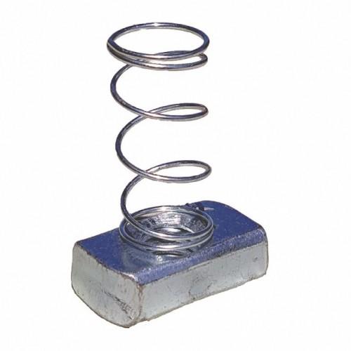 Spring Nut, Electro Galvanized, M8