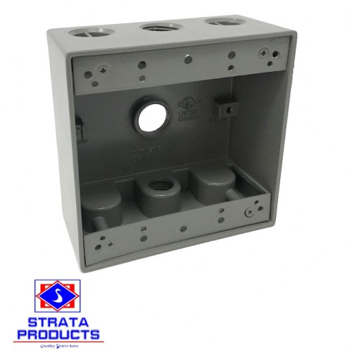 2-Gang Weatherproof Box 4-1/2""