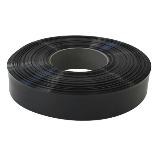 FLAT HEAT SHRINK PE TYPE BLACK 100mt/roll
