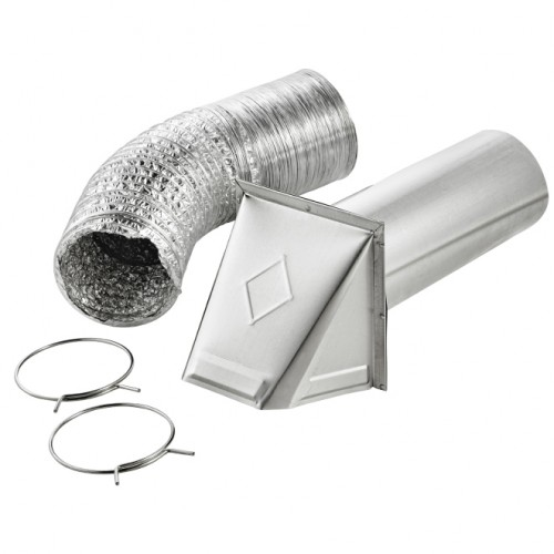 4″ X 8′ UL 2158A TRANSITION DUCT PREFERRED HOOD VENT KIT