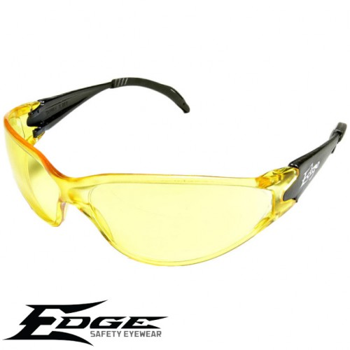 Edge EyeWear AB112 Kirova Safety Sunglasses - Black Frame With Yellow Lens