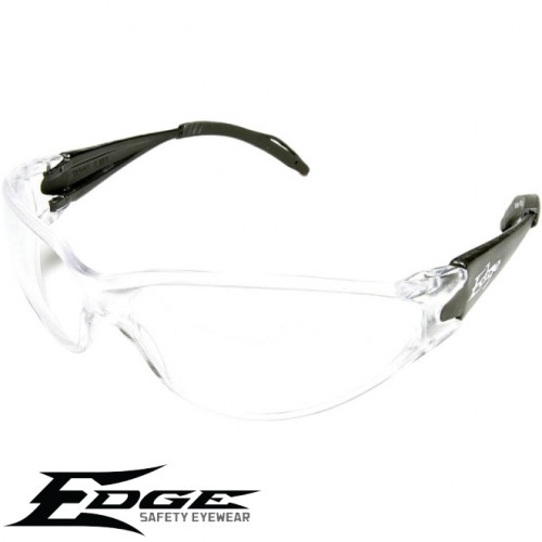 Edge EyeWear AB111 Kirova Safety Sunglasses - Black Frame With Clear Lens