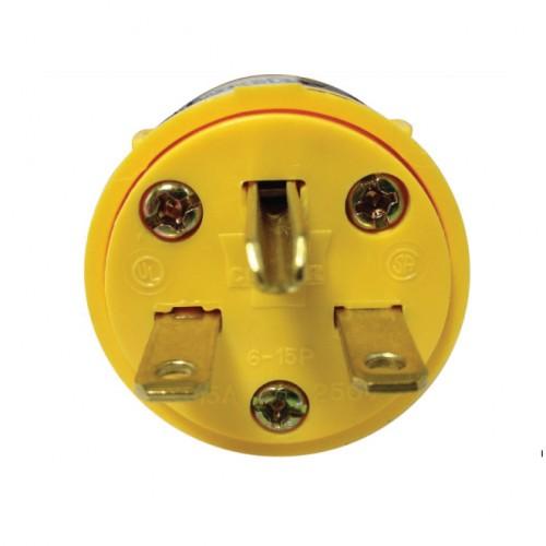 Cooper Wiring 4866box Vinyl 615 Amp Nema Plug Yellow