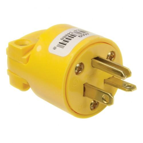 4509-BOX Vinyl 6-20 Amp Nema Plug Yellow