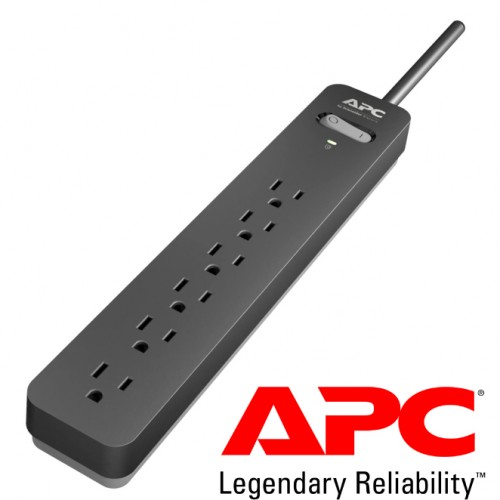 APC Essential SurgeArrest PE63, 6 Outlets, 3 Foot Cord, 120V