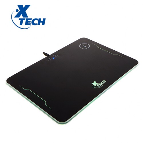 RGB hard mouse pad with wireless charger